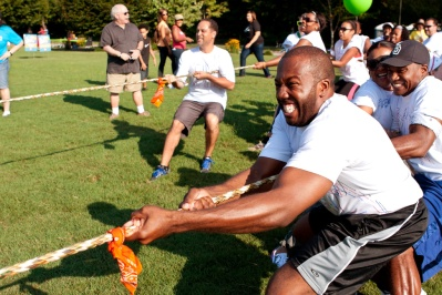 Tug-Of-War Teams Pull Rope In Summer Fundraising Event
